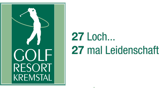logo golf resort kremstal 27 loch leidenschaft