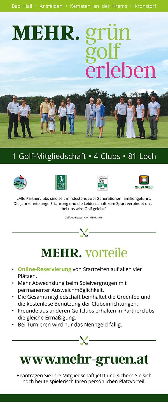 MEHR grün Mitgliedschaft vier Plätze
